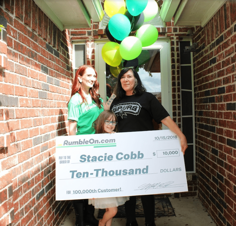 $10,000 rumbleon winner