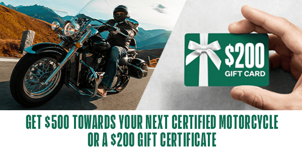 Sell a motorcycle online the easy way and get rewarded!