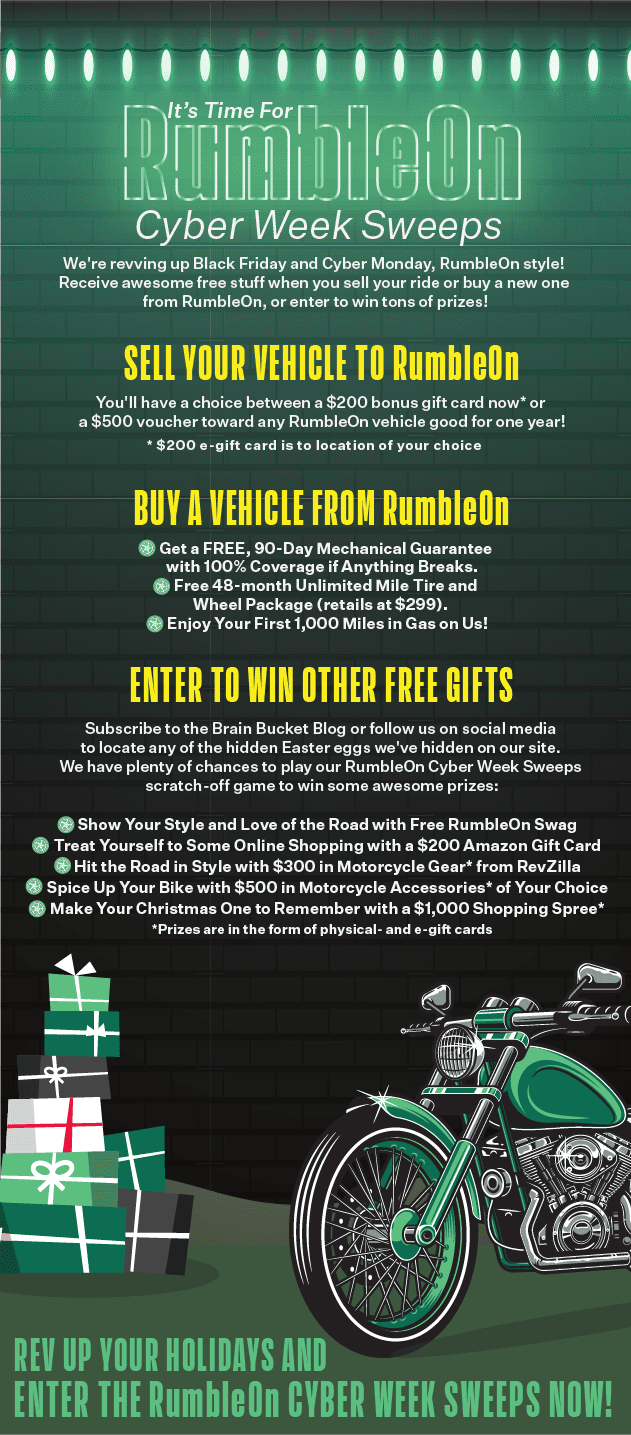 RumbleOn Cyber Week Prizes and Details
