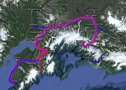 Best motorcycle road in Alaska