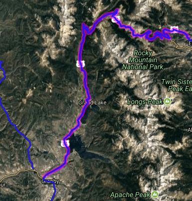 Best motorcycle rides in Colorado - Estes Park - Grand Lake - Granby