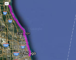 Best motorcycle road in Illinois - Chicago - Evanston - Lake Bluff