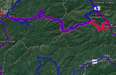 Best bike routes in North Carolina - NC 143_TN 165 - Robinsville NC - Tellico Plains TN