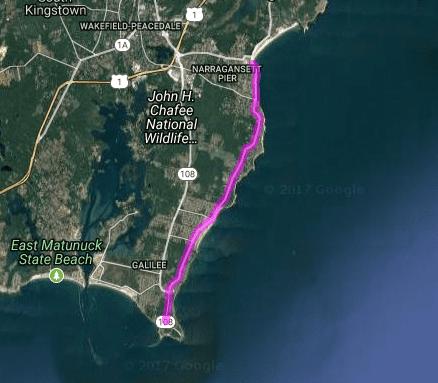 Best motorcycle rides in Rhode Island - Narragansett - Point Judith