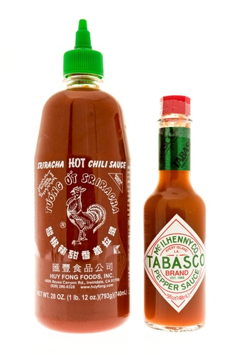 Tabasco and Sriracha come in travel size and are good for on-the-road snacks.