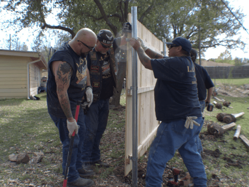 dallas veteran fence project