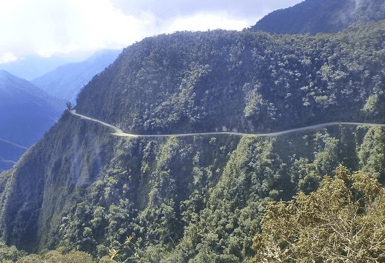 north yunguas road bolivia