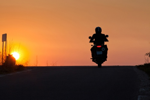 motorcycle sunrise