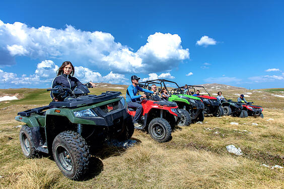 atv with friends